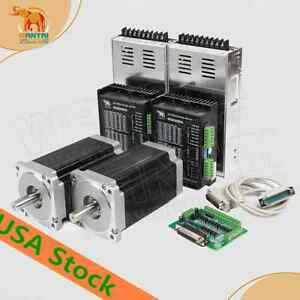 usa Free 2axis Wantai 1axis Nema34 Stepper Motor 1700oz in 151mm 6a Cnc Plase