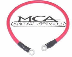 Western Fisher Snow Plow Battery Cable 24 Red Positive Power Wire 22511 5799