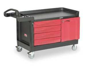 Trade Cart service Bench 750 Lb black Rubbermaid Fg454888bla