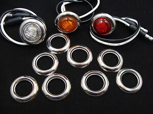 10 3 4 Stainless Steel Led Light Grommet Covers Fits Maxxima Lighting Dot Light