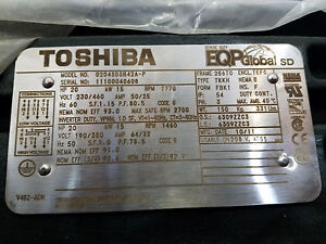 Toshiba 20hp Electric Motor 0204sdsr42a p