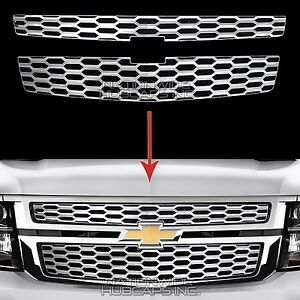 2015 18 Chevy Tahoe Suburban Chrome Snap On Grille Overlays Grill Covers Inserts