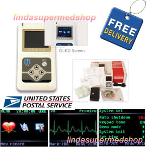 Contec 24h 12 Channel Ecg Dynamic Holter Ekg Monitor System software Tlc5000 Usa