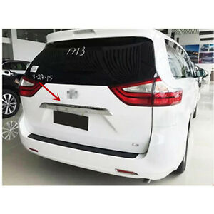Abs Rear Trunk Molding Chrome Garnish Trim Cover For Toyota Sienna 2011 2017
