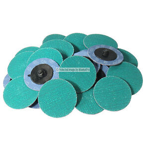 25pc 2 120 Grit Green Zirconia Roloc Type Roll On Lock Sanding Disc Made In Usa