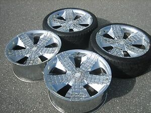 22 Inch Asanti Alligator Chrome Wheels Rims 5x4 5 22x9 5