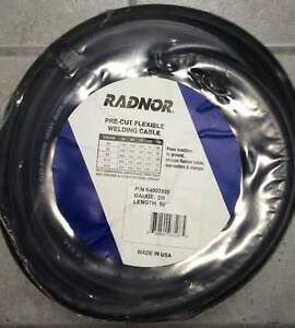 Radnor Pre cut Flexible Welding Cable 50ft 2 0 Guage