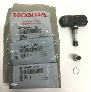 Genuine Honda Oem Alloy Tire Tpms Tire Pressure Sensor Kit W Nut Washer