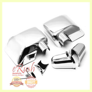 For 2007 2017 Jeep Wrangler Chrome Side Mirror Cover Covers W Arms 2014 2013