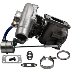 T3 T4 Turbo Charger 350 Hp 2 5 V Band With Internal Wastegate For Dsm