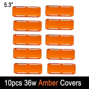 10pcs 36w Snap On Amber Lens Cover For 7 Cree Led Work Light Bar 72w 144w 126w