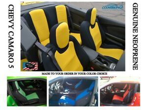 Chevy Camaro 5 Genuine Coverking Neoprene Tailored Front Rear Seat Covers