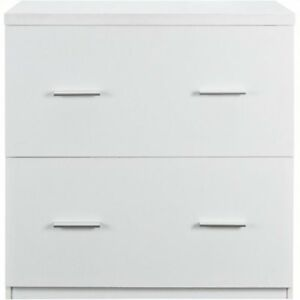Bowery Hill 2 Drawer Lateral File Cabinet In White