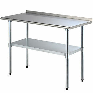 24 X 48 Work Prep Table Stainless Steel Kitchen Restaurant Storage Shelf