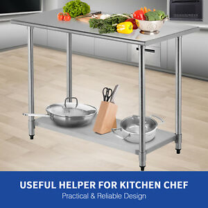 Stainless Steel Commercial Work Food Prep Table Kitchen Restaurant 24 X 48