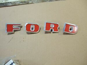 Ford Tractor 2000 3000 4000 5000 6000 7000 8000 9000 Grill ford Red Emblems