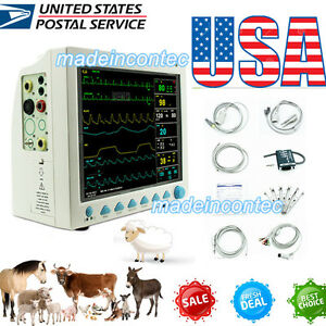 Contec Vet Veterinary Vital Signs Patient Monitor Ecg nibp spo2 pr resp temp Usa