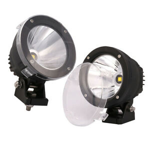 2pcs 25w 4 Inch Round Cree Led Work Light Spot Offroad Driving Fog Jeep Ute Suv