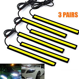 6x Super Bright Cob White Car Led Lights For Drl Fog Driving Lamp Waterproof 12v