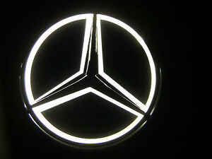 White Universal Replica Led Illuminated Star Emblem Mercedes Benz A B C E M R