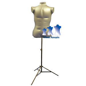 Inflatable Male Torso Extra Large With Ms12 Stand Silver