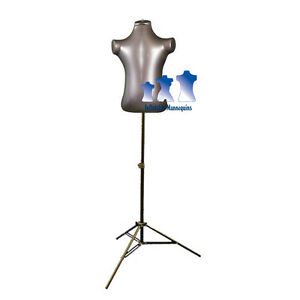 Inflatable Child Torso With Ms12 Stand Silver