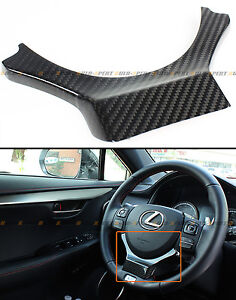 For 2014 2020 Lexus Is250 350 200t Carbon Fiber Steering Wheel Add on Trim Cover