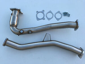 2015 2019 Wrx Auto Cvt Downpipe High Flow Cat Hfc O2 Bung Down Pipe 1320 J Pipe