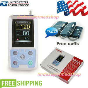 Contec Us 24 Hours Ambulatory Blood Pressure Monitor Abpm50 3 Cuffs pc Software