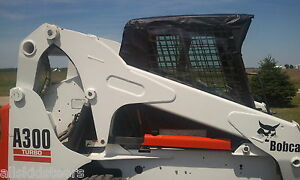 Vinyl Cab Enclosure Kit With Door Bobcat T450 T550 T590 T595 Skid Steer