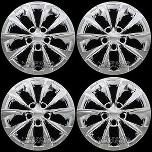 4 Chrome 2015 18 Toyota Camry L Le 16 Wheel Covers Full Hub Caps Fit Steel Rim