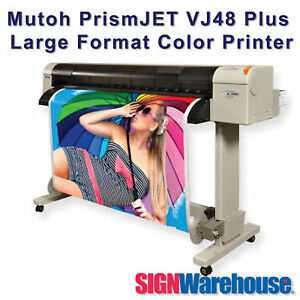 48 Ecosolvent Prismjet Signwarehouse Large Format Color Printer Tops Hp Roland