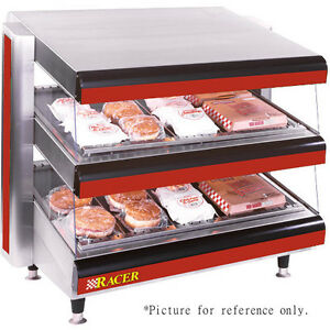 Apw Wyott Dmxd 36s Multi product Racer Slanted Open Air Heated Merchandiser