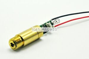Industrial lab Brass 200mw 532nm Green Laser Diode Dot Module 3 7v 4 2v