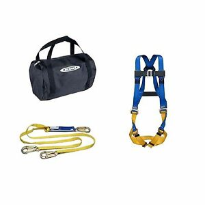 Werner Aerial Workwear Safety Fall Protection Lanyard Body Strap Harness Kit Bag