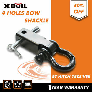 X Bull Recovery Trailer Hitch Shackle Bracket 2 Receiver 5t 3 4 Inch D Ring 4wd