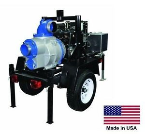 Trash Pump Trailer Mounted Commercial 24 Hp Honda 6 Ports 59 400 Gph