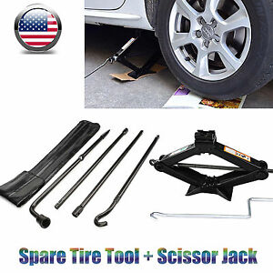 Spare Tire Tool Kit For Ford 03 07 F250 F350 F450 F550 Scissor Jack Speed Handle