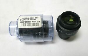 Zeiss Axio Scope Eyepiece W Pl 10x 23 Focusing Pair New