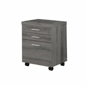 Monarch File Cabinet With Three Drawers In Dark Taupe