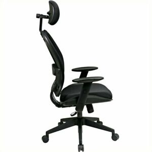 Scranton Co Grid Mesh Back Office Chair With Headrest In Black