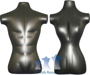His Her Special Inflatable Mannequin Torso Forms Standard Size Black