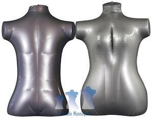 His Her Special Inflatable Mannequin Torso Forms Extra large Silver