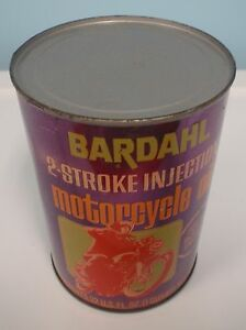 Bardahl Motorcycle Oil Metal 1 Quart Can
