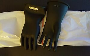 Marigold Industries Rubber Insulating Gloves Type 1 Class 1 14in Size 11 Black