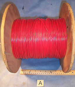 Lot A Red 18 Awg Insulated Electric Stranded Copper Wire Cable Spool 9 Lb