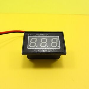 0 36 Two wire Dc 3 30v Waterproof Digital Voltmeter Led Display Motor Car Boat