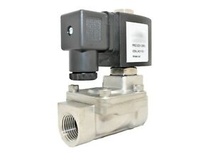 1 Stainless Steel Solenoid Valve Electric Normally Closed Water Gas Air Ro