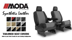 Coverking Synthetic Leather Fr Seat Covers For Toyota Highlander In Leatherette