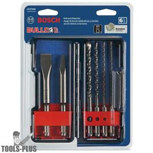 6pc Sds plus Bulldog Rotary Hammer Bit Set Bosch Tools Hcst006 New